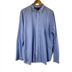 VINCE Blue White Stripe Long Sleeve Button Up